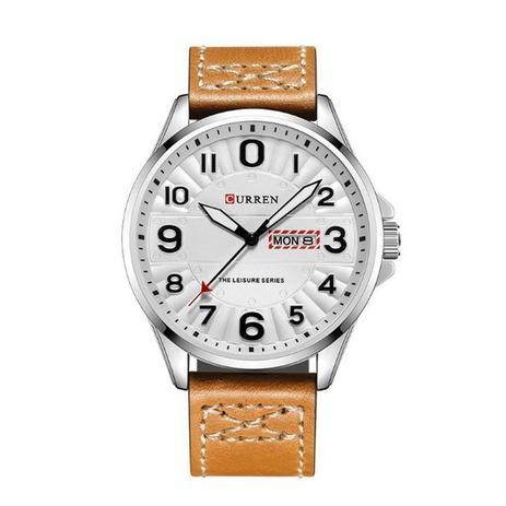 ebc3e6164 Relógio Masculino Curren Analógico 8269 Prata e Branco - Relógio ...