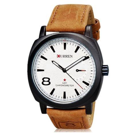 7efdfdafd31 Relógio Masculino Curren Analógico Casual 8139 Branco - Relógio ...