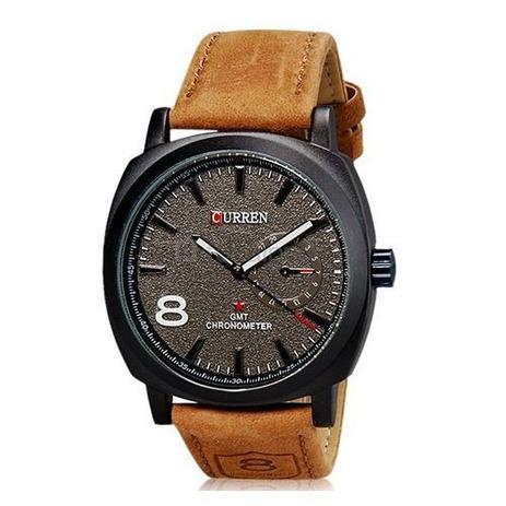 5ac5018fbda Relógio Masculino Curren Analógico Casual 8139 Preto e Marrom ...