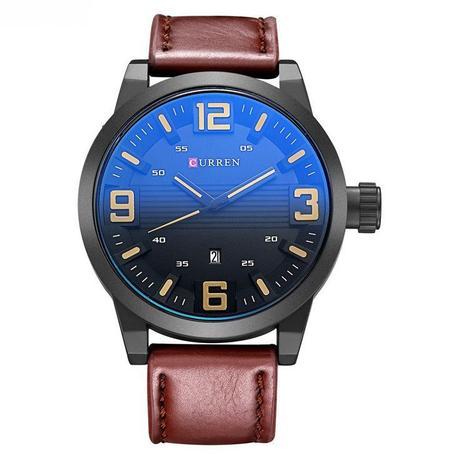 bb52e2192f4 Relógio Masculino Curren Analógico Casual Pulseira De Couro ...