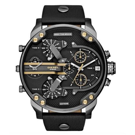 6546f017f Relógio Masculino Diesel Pulseria De Couro Crono - Dz7348 - Relógio ...