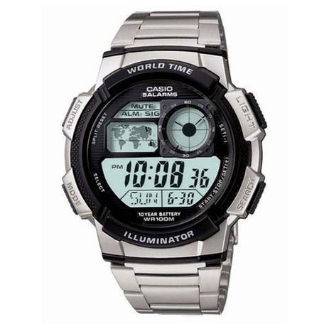 a18f3ff0b41 Relógio Masculino Digital Casio AE-1000WD-1AVDF - Prateado - Casio ...