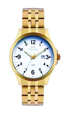 4348bf8a6b709 Relógio Masculino Dourado Technos Original 2115mqd 4b - Relógio ...