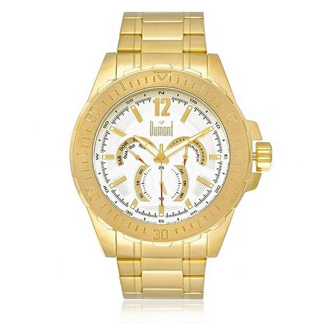 4eaf08fe167 Relógio Masculino Dumont DU6P29ABT 4K Dourado - Relógio Masculino ...