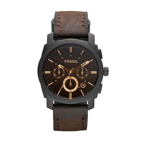 b237bff4d93 Relógio Masculino Fossil Analógico FFS4656 Z   FS4656 0PI 42mm Couro ...