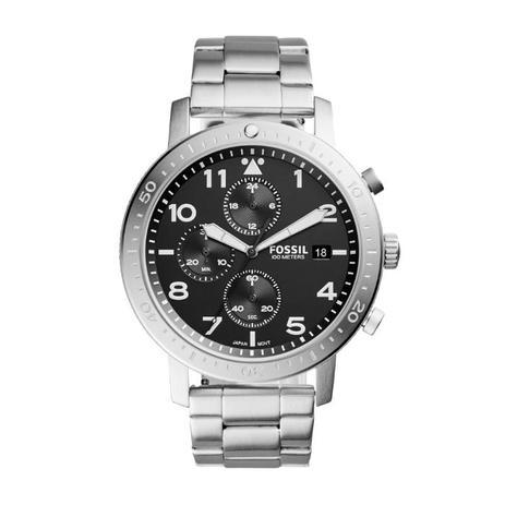 Relógio Masculino Fossil CH3082 1PN 46mm Pulseira Aço Prata ... 24aa4a99a6