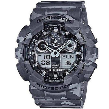 95672309618 Relógio Masculino G-shock Camuflado Cinza e Preto - Casio - Relógio ...