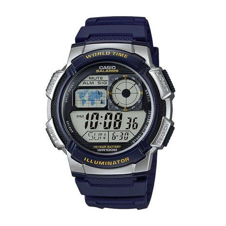 0896680729e Relógio Masculino Horário Mundial Ae-1000w-2avdf -Casio - Relógio ...