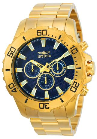 776ea1bf73 Relógio Masculino Invicta Pro Diver 22544 50mm Dourado (Cor interna da  Caixa Azul)