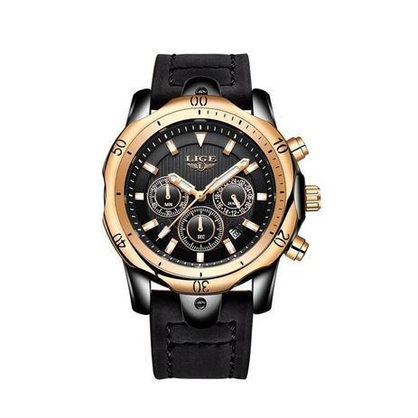 6c0b2aa4849 Relógio Masculino Lige 9682 Cronógrafo Quartz Shock Resistente à Água