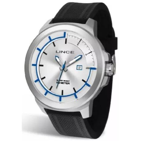 9e656ae88 Relógio Masculino Lince Mrph054s S1px Prata Preto - Relógio ...