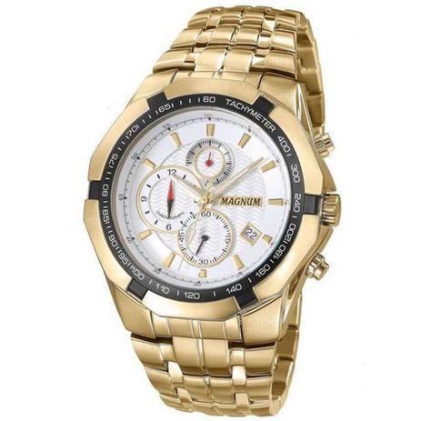 a9812e65a0e77 Relógio Masculino Magnum Ma32201h - Dourado - Relógios Masculinos ...