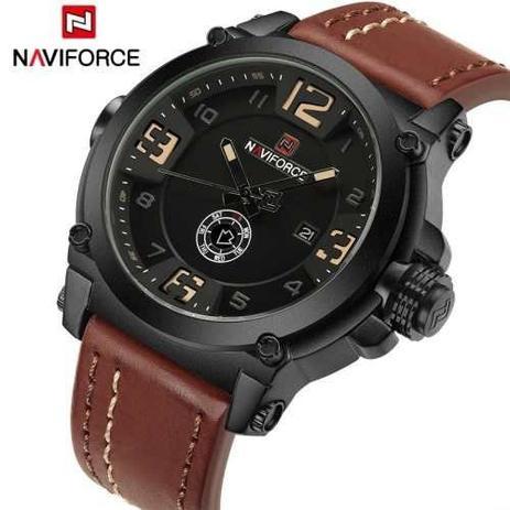 Imagem de Relógio Masculino Militar Esportivo Naviforce Pulseira Couro