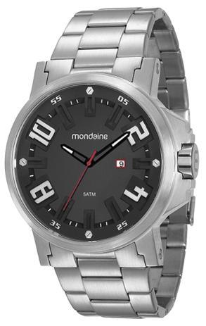 Relógio Masculino Mondaine 99233G0MVNS3 50mm Pulseira Aço Prata ... d1147b430a