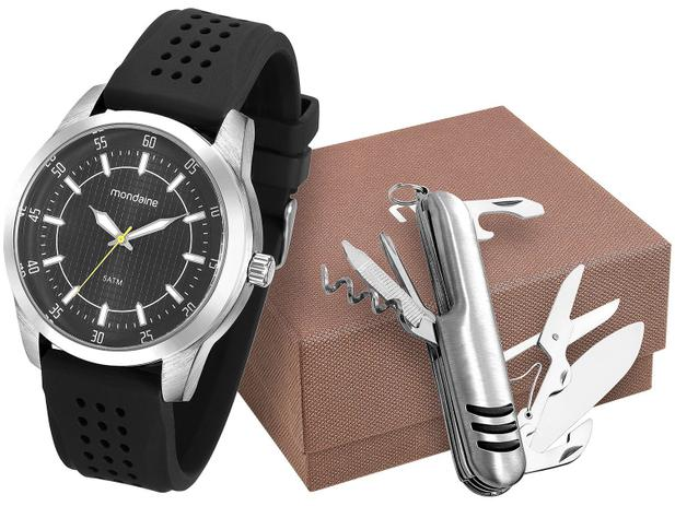 63af6dee61c Relógio Masculino Mondaine Analógico - 99045G0MGNI2K com Canivete ...