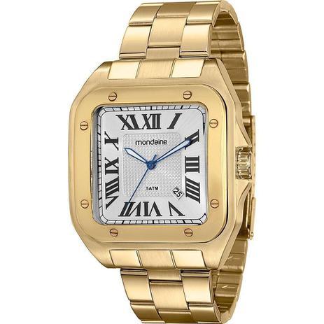 d2e4cb47080 Relógio Masculino Mondaine Analógico Clássico 78624GPMVDA2 - Dourado ...