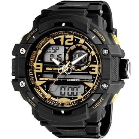 Relógio Masculino Mormaii MO0949 8U 50mm Preto e Dourado - Relógio ... d571eb7b08e