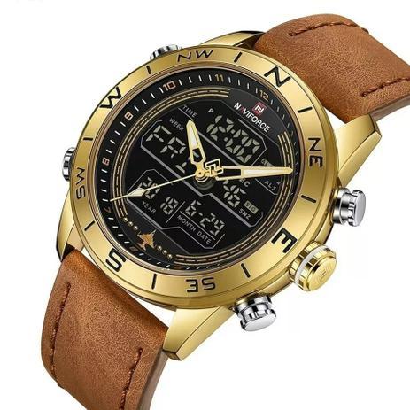 78b1ba42c82 Relógio Masculino Naviforce 9144 Couro Digital E Analógico - Relógio ...