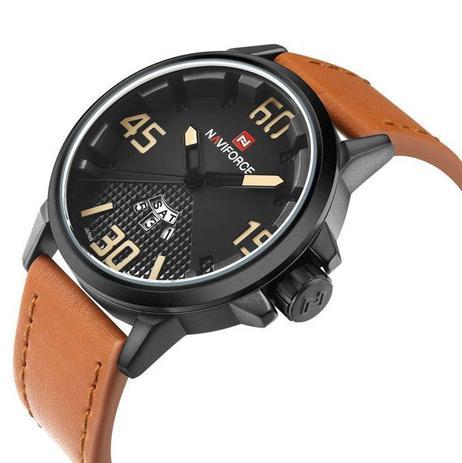 d6f2ba059 Relógio Masculino Naviforce Esporte Pulseira Couro Ajustável ...
