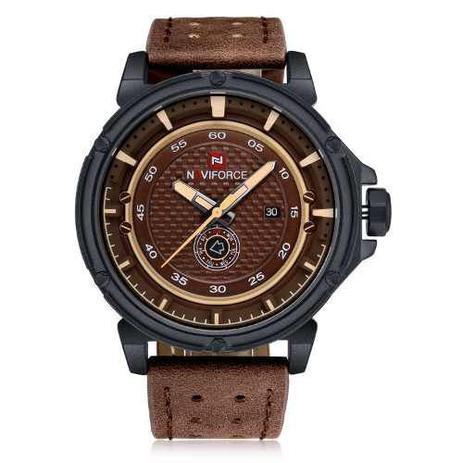 3f8cdbe1631 Relógio Masculino Naviforce Esportivo Militar Pulseira Couro ...