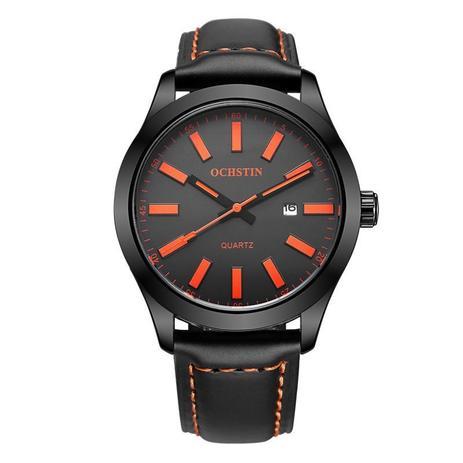 4158bb70561 Relógio Masculino Ochstin Quartz Casual Luxo Pulseira Couro ...