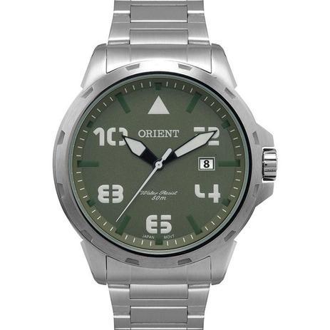 440e31c1805 Relógio Masculino Orient Analógico MBSS1195A E2SX Prata Verde ...