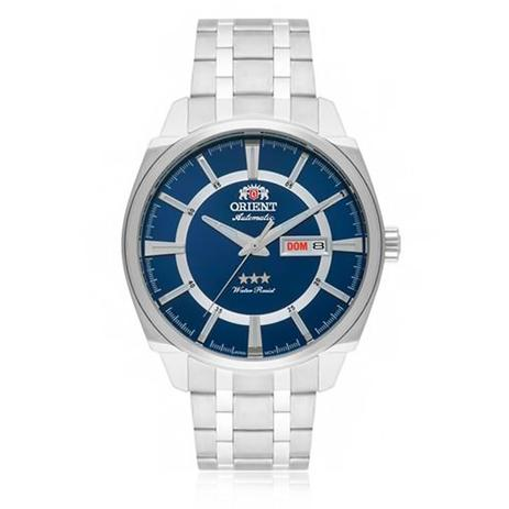 6c3256c08bd Relógio Masculino Orient Automatic Analógico 469SS071 D1SX Fundo Azul