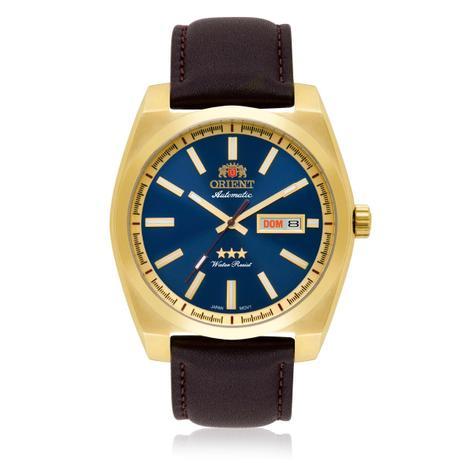 Relógio Masculino Orient Automático 469GP069 D1NX Couro Marrom ... 9c6c11c450