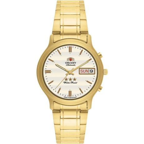 2fe58e295bd Relógio Masculino Orient Automático EM02A0-C1KX - Dourado - Relógio ...