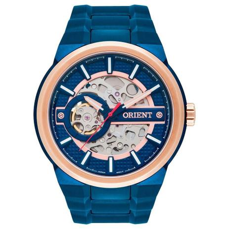 Relógio Masculino Orient Automático NH7BR001 D1DX Azul - Relógio ... 0a82a3746b
