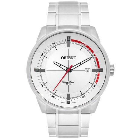 6129c7a7d24 Relógio Masculino Orient MBSS1295 S1SX - Prata Vermelho - Relógio ...