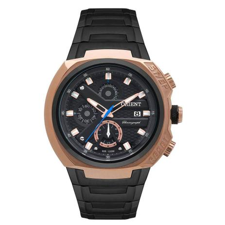 25d128a5fe6 Relógio Masculino Orient MTSSC014P1PX - Preto Rosê - Relógio ...