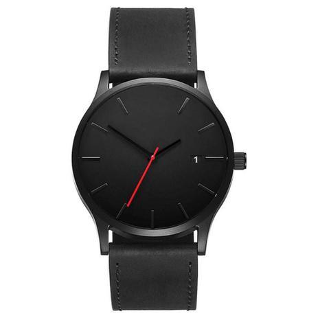 b1b0f0471d4 Relógio Masculino Pulso Quartzo Esportivo Couro Preto - Outras marcas