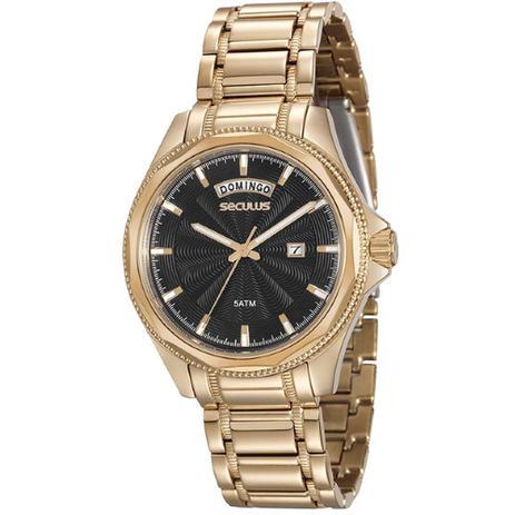 Imagem de Relógio Masculino Seculus 20459GPSVDA1 Dourado