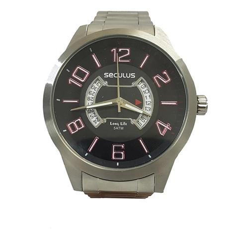972bfb762 Relógio Masculino Seculus Analógico 20325G0SVNA1 - Prata - Relógio ...
