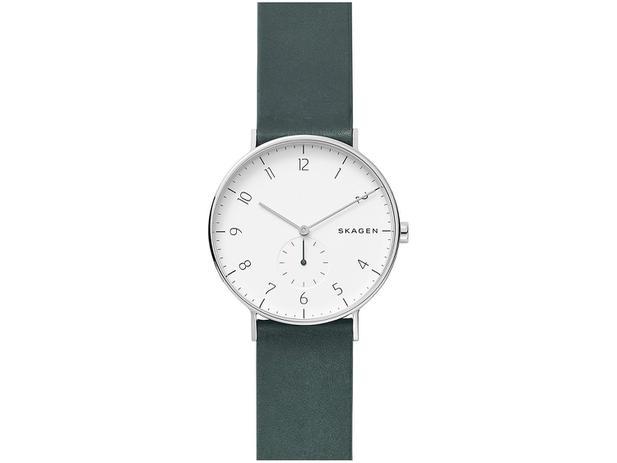 06c6dd3b5f782 Relógio Masculino Skagen Analógico Prata e Verde - SKW6466 0VN ...