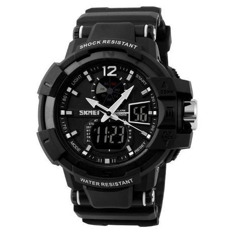 831aa8b78b1 Relógio Masculino Skmei Anadigi 1040 Preto e Branco - Relógio ...