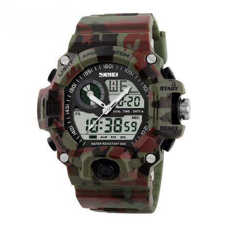 9332dca3b99 Relógio Masculino Skmei Anadigi 1053 Camuflado - Relógio Analógico e ...