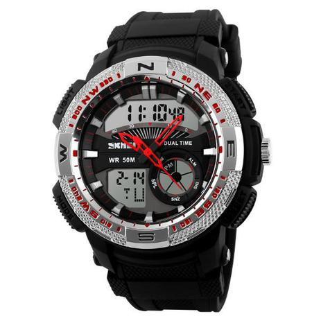 49ba331f8b7 Relógio Masculino Skmei Anadigi 1109 Preto e Prata - Relógio ...