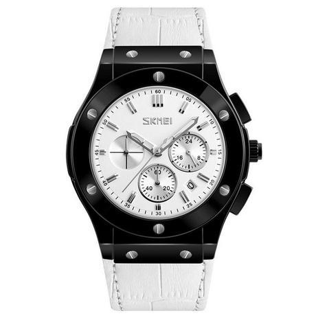 cefbcd04217 Relógio Masculino Skmei Analógico 9157 - Preto Branco - Relógio ...