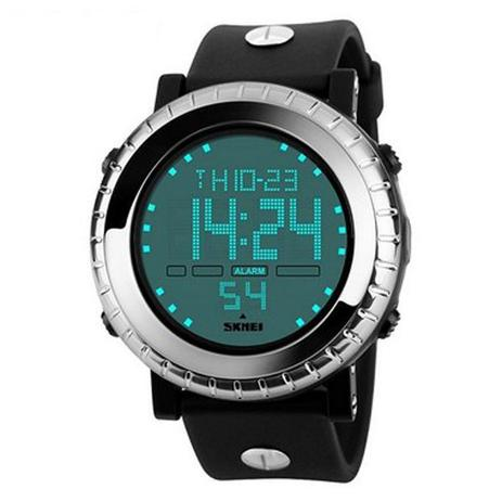 64e66324f8a Relógio Masculino Skmei Digital 1172 - Preto e Prata - Relógio ...