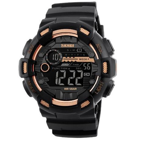 503db540f00 Relógio Masculino Skmei Digital 1243 Dourado - Relógio Masculino ...