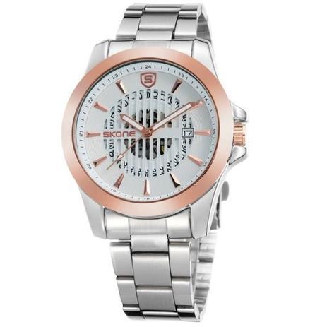 302cd565962 Relógio Masculino Skone Analógico 7232BG Dourado - Relógio Masculino ...