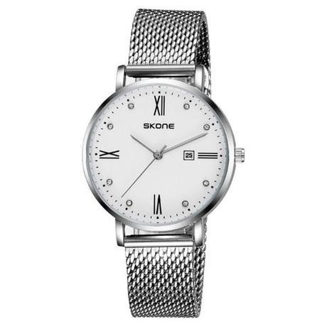 d81f187f01a Relógio masculino skone analógico 7392bl branco - - Relógios ...