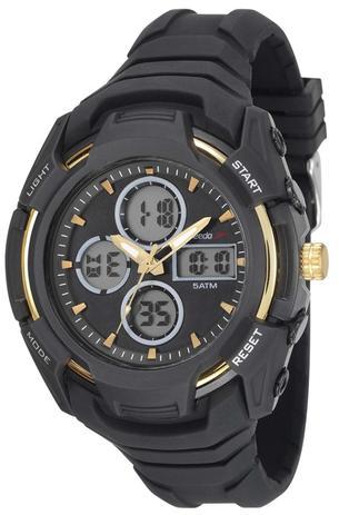 1e00d1ae0d1a1 Relógio Masculino Speedo 81166G0EVNV1 Pulseira Borracha Preta ...