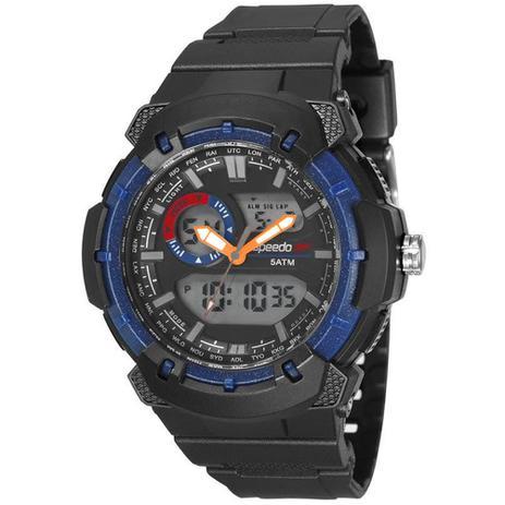 c112a174317 Relógio Masculino Speedo Anadigi 81184G0EVNP2 - Preto Azul - Relógio ...