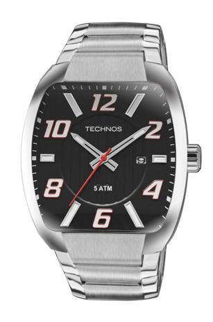 aafdd3743345e Relógio Masculino Technos 2115KLL 1P 43mm Aço Prata - Relógio ...