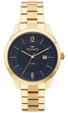 a49273796db Relógio Masculino Technos 2115MOS 4A 43mm Aço Dourado - Relógio ...