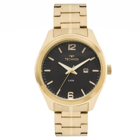 91f21cc13bd Relógio Masculino Technos 2117LAK 1P Pulseira Aço Dourada - Relógio ...