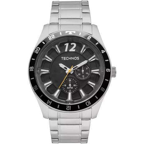 c7ee0d70c78 Relógio Masculino Technos 6P22AE 1P 46mm Aço Prata - Relógio ...